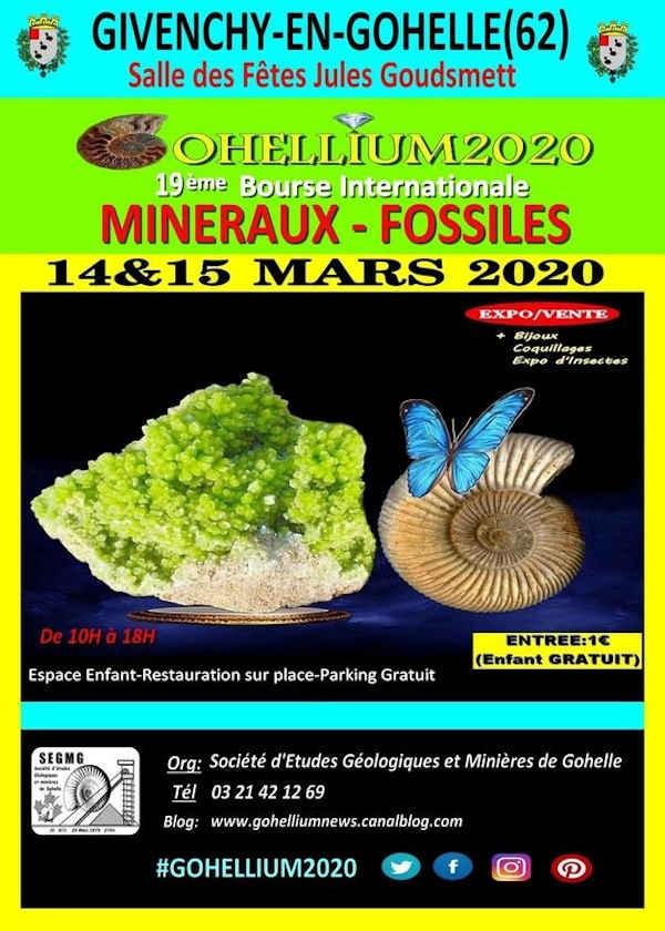 19e internationale fossiele mineralen Gohellium 2020 Exchange