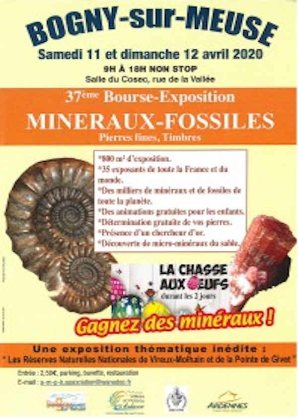 37e beurs tentoonstelling fossiele mineralen fijne stenen postzegels