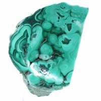 Malachiet semi-gepolijste steen