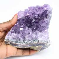 Natuurlijke amethist steen druse