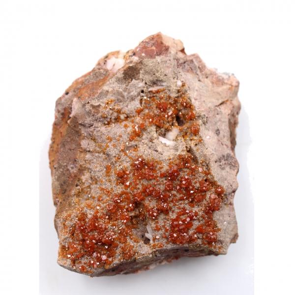 Vanadinite kristallen op gangue