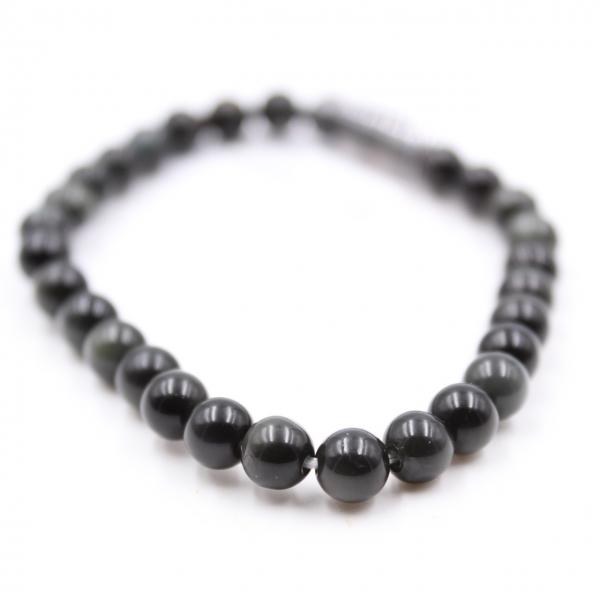 Obsidiaan armband 6 mm