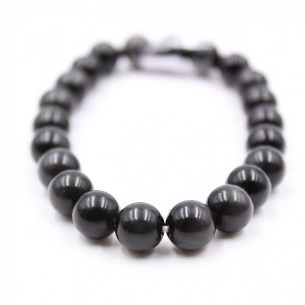 Obsidiaan armband 8 mm