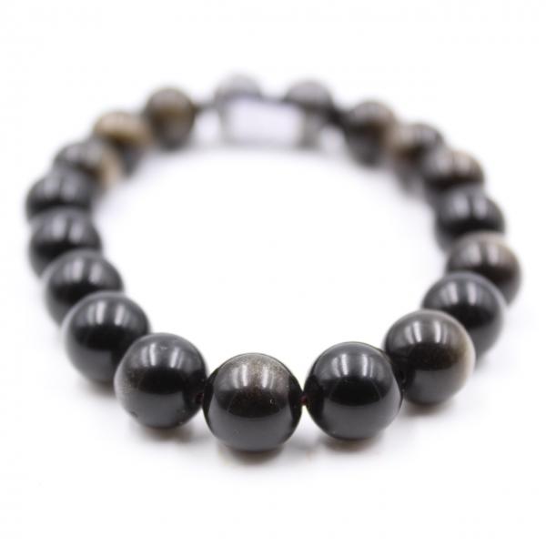 Obsidiaan armband 10 mm