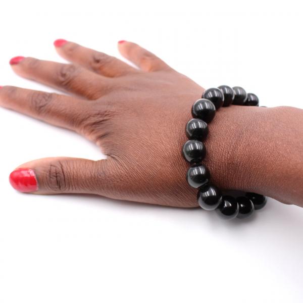 Obsidiaan armband 12 mm