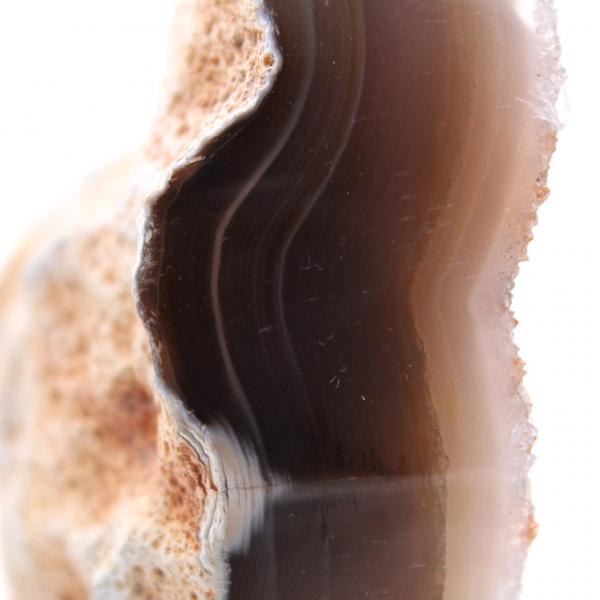 Kwartskristallen op gepolijst agaat