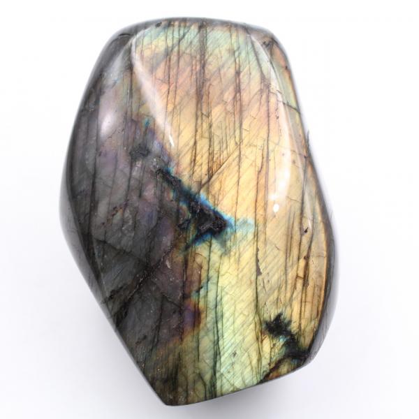 Paarse gele labradoriet ornament steen