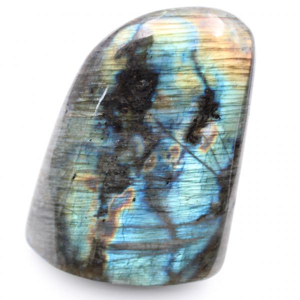 Labradoriet freeform siergeel blauw