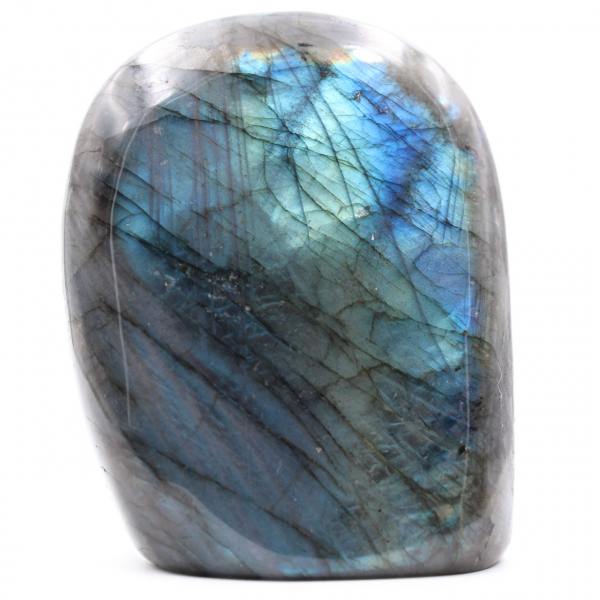 Blauw labradoriet stenen blok
