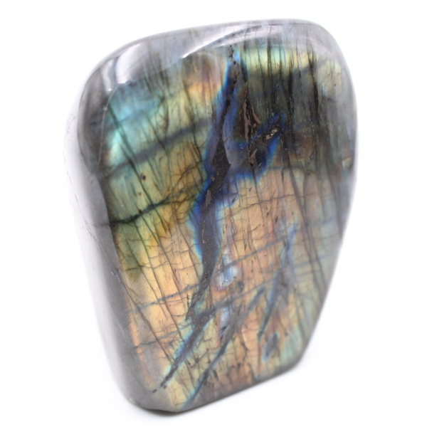 Gele labradoriet steen decoratie vrije vorm