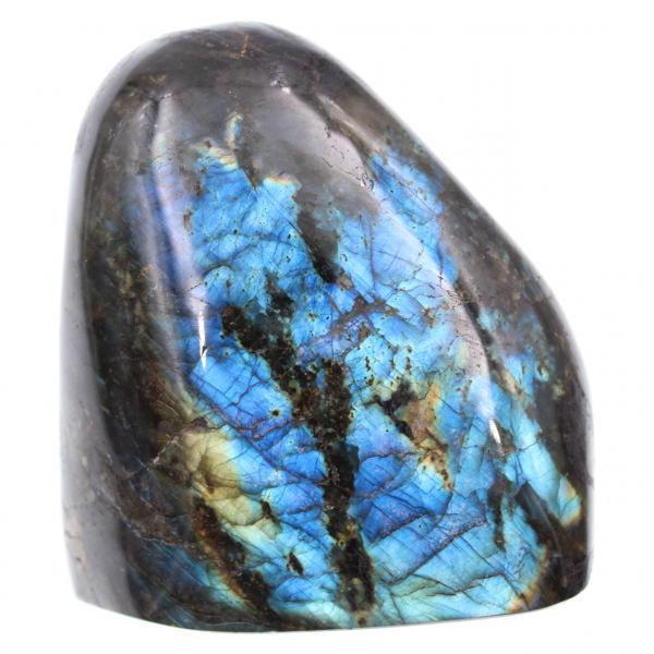 Gepolijste blauwe labradoriet steen
