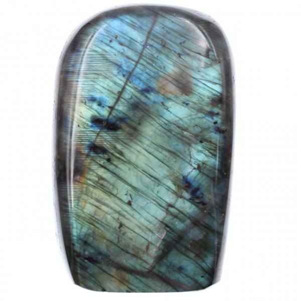 Blauwe labradoriet steen voor ornament en decoratie