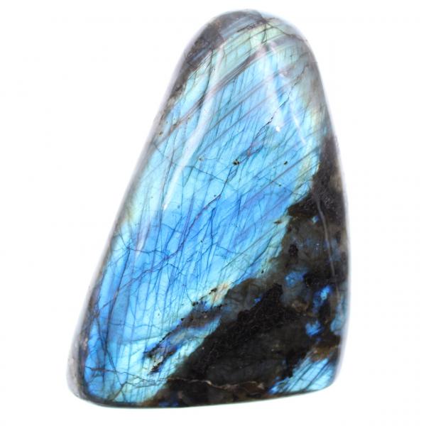 Labradoriet met blauwe reflecties, decoratie in vrije vorm