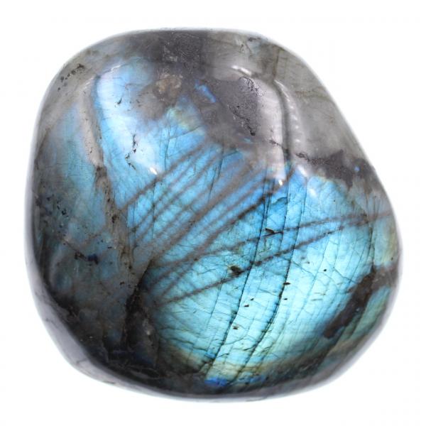 Blauw gepolijste blok labradoriet steen