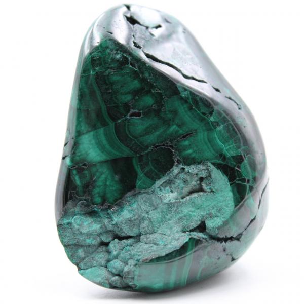 Malachiet gepolijste steen