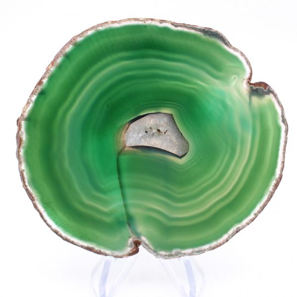 Plakje groene agaat