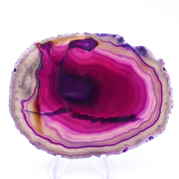 Plakje paarse agaat
