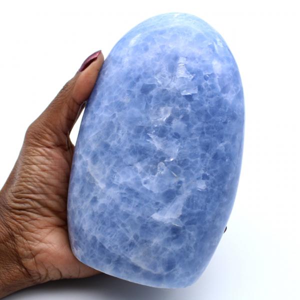 Vrije vorm van blauwe calciet