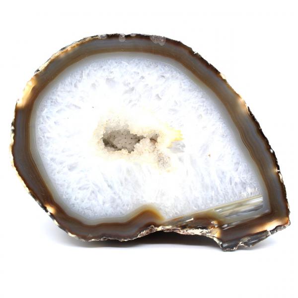 Half quartz agaat geode