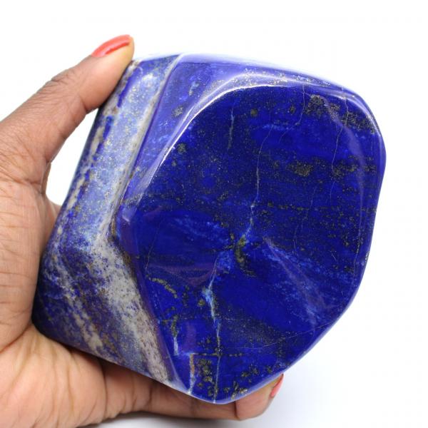 Grote sier gepolijste Lapis Lazuli steenuli